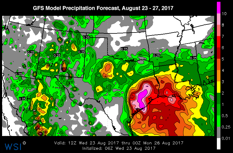 Harvey rain forecast