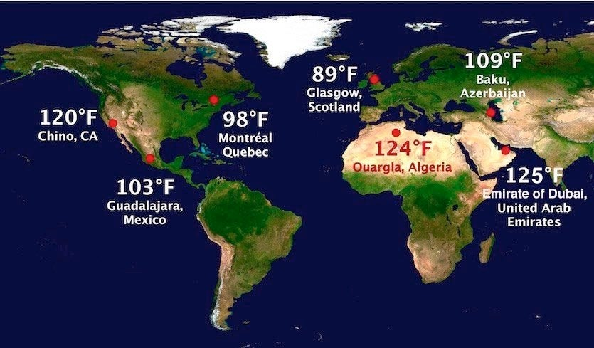 Heat Records Falling Around the World in 2018 by Christopher C