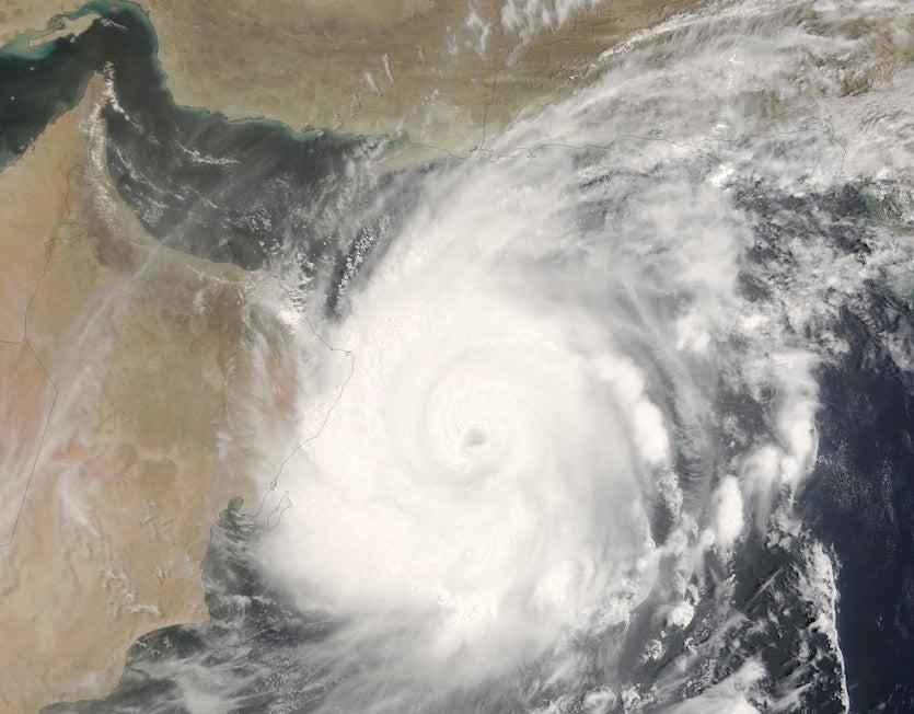 MODIS view of Cyclone Gonu, 0635Z  June 5, 2007