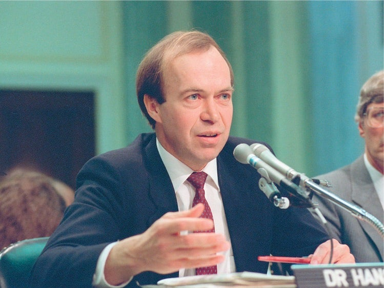 Dr. James Hansen testifies before Congress on June 23, 1988