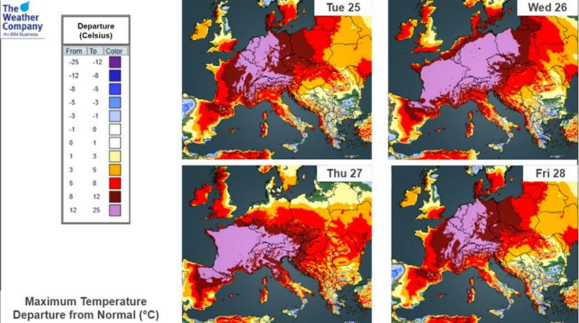 Heat wave forecast