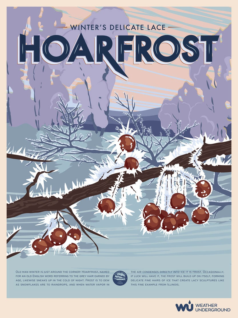 graphic relating to Weather Underground Printable named Hoarfrost Weather conditions Underground