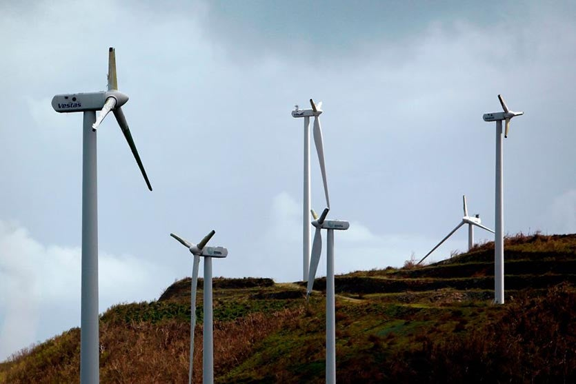 Hurricane Maria wind turbine damage