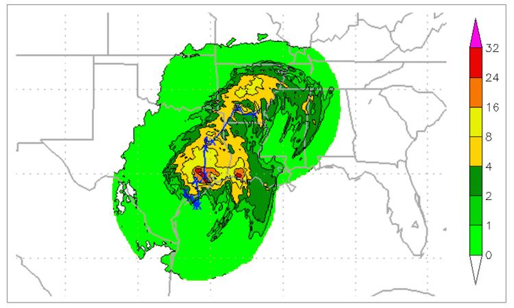 Harvey rainfall forecast