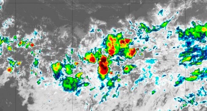 Infrared satellite image of Invest 97L at 2045Z 9/15/19