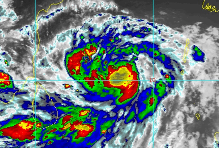 Enhanced infrared satellite image of Tropical Cyclone Fani at 1545Z (11:45 am EDT) Monday, April 29, 2019