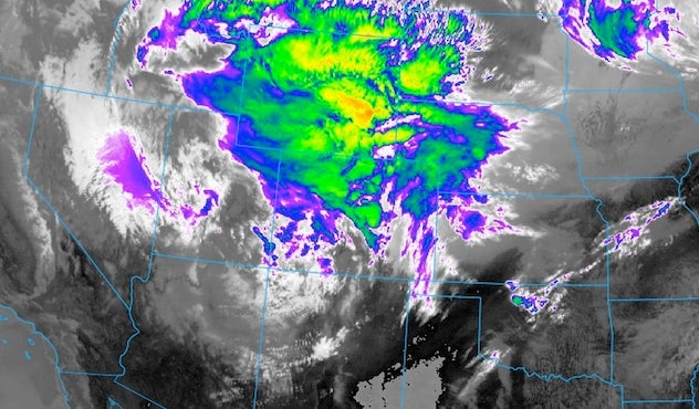 Above An Infrared Goes 16 Satellite Image From 1512z 10 12 Am Cdt Thursday May 18 2017 Shows The Strong Upper Level Low In The Southwestern U S That