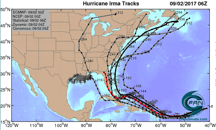 Image result for Irma track map from sept 5 2017