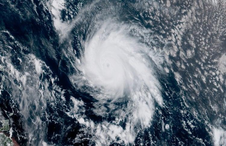 Figure X. Visible-wavelength satellite image of Hurricane Jose at 11:45 am EDT Thursday, September 7, 2017. Image credit: RAMMB / CIRA@CSU.