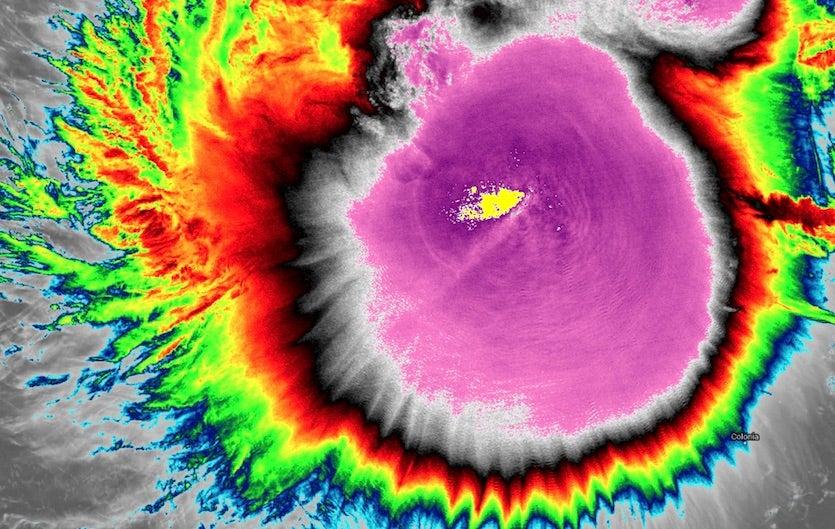 VIIRS infrared image of Typhoon Kammuri from the NOAA-20 satellite at 0400Z Saturday, November 30, 2019