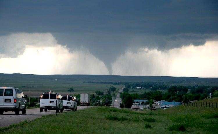 Tornado near LaGrange, WY, on 6/9/2009