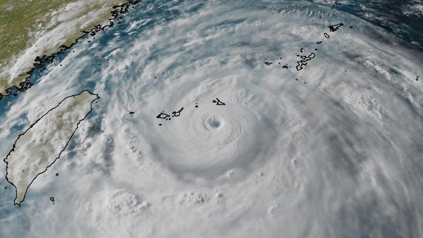 Typhoon Lekima southeast of Japan's Ryukyu Islands, 8/8/19
