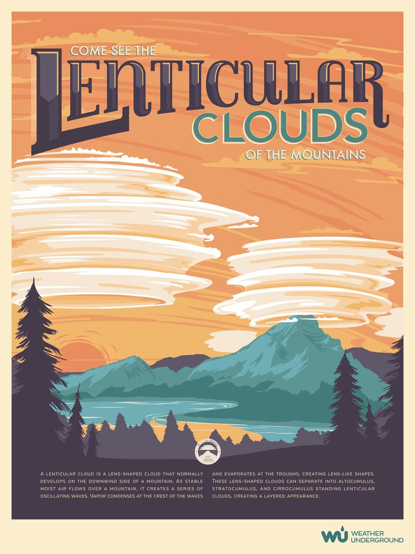 picture about Weather Underground Printable called Lenticular Clouds Climate Underground