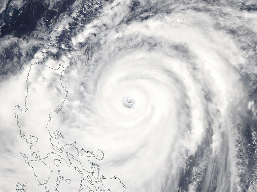 MODIS image of Super Typhoon Mangkhut on Friday afternoon, September 14, 2018