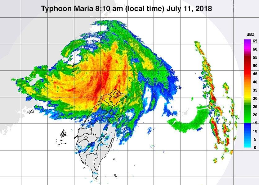 Maria landfall radar