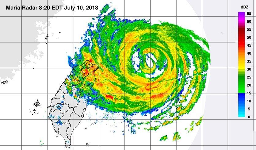 Category 3 Typhoon Maria Batters Miyakojima and Taiwan