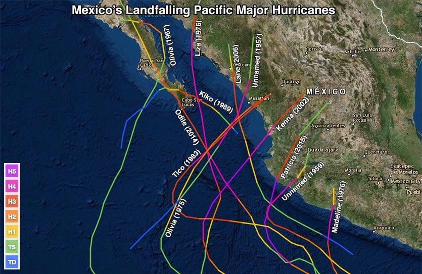 Mexican major hurricanes