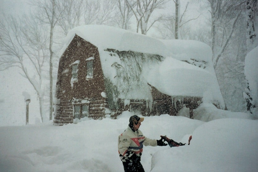 This photograph was taken during the remarkable snowstorm (of lake effect origin) that buried Montague Township on New York's Tug Hill Plateau during January 1997