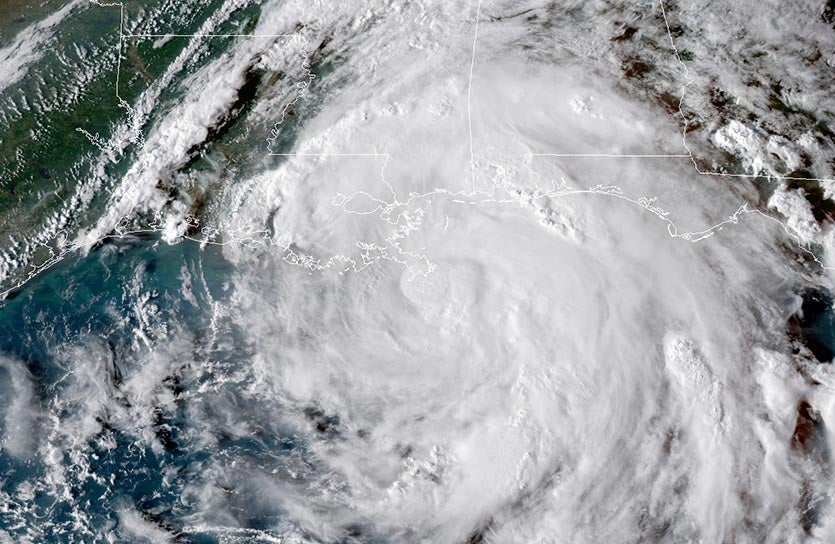 GOES-16 view of Hurricane Nate at 6 pm EDT Saturday, October 7, 2017