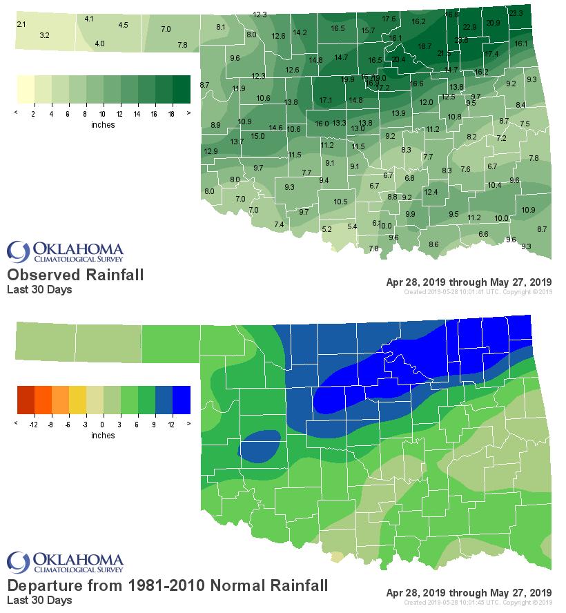 Oklhoma precipitation