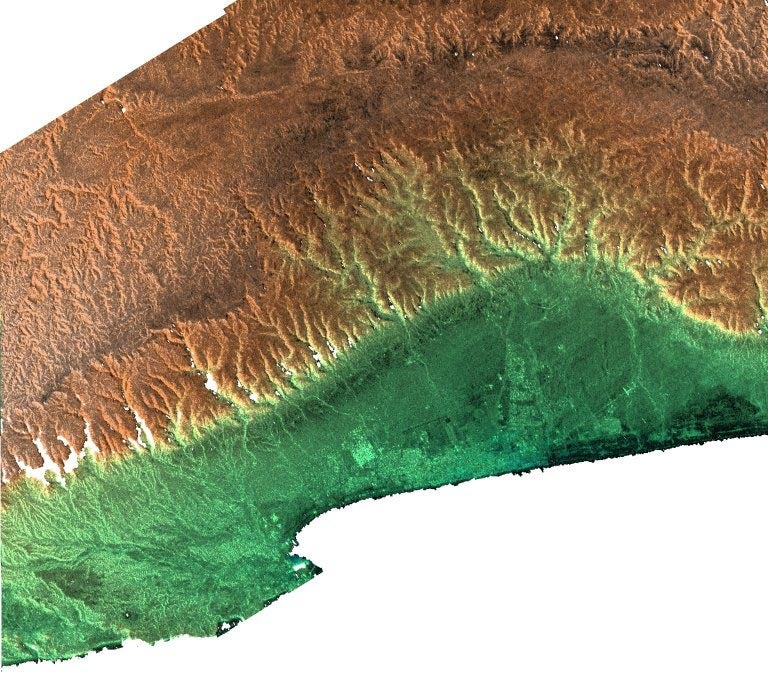 Oman topography