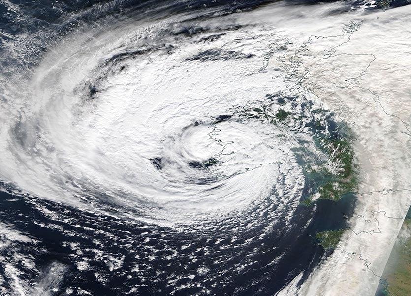 Strange Days Ex Hurricane Ophelia Batters Ireland Under