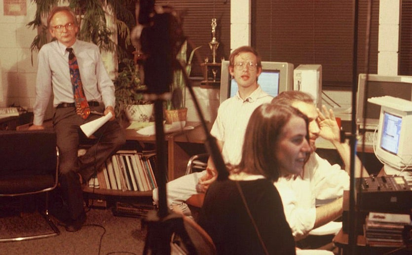 Perry Samson, Jeff Masters, Deborah Gibson and Jeff Ferguson attempting to produce a television series in 1994