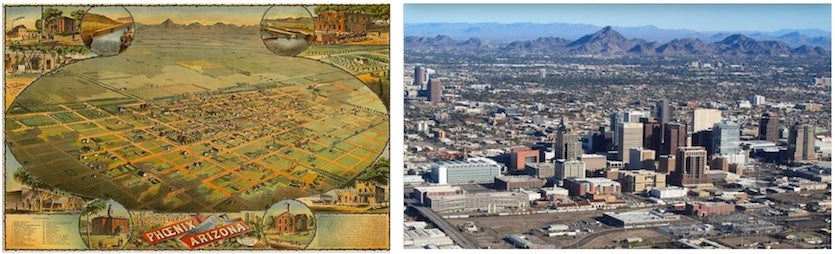 Phoenix in 1880s and 2010s