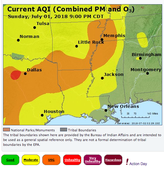 Dangerous U S Pollution Event From Heat Wave African