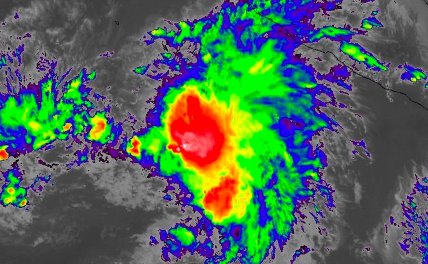 Infrared image of TS Raymond at 2240Z 11/15/19