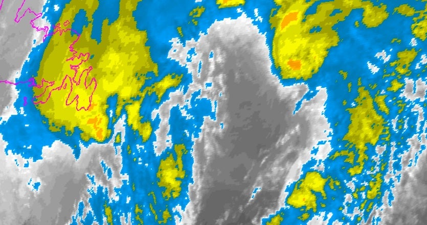 Infrared satellite image of TS Rina from 11:15 am EST 11/9/17