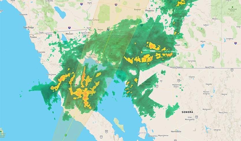 Rosa Hitting SW U.S., Baja With Heavy Rains; Updates on Leslie, Kong on