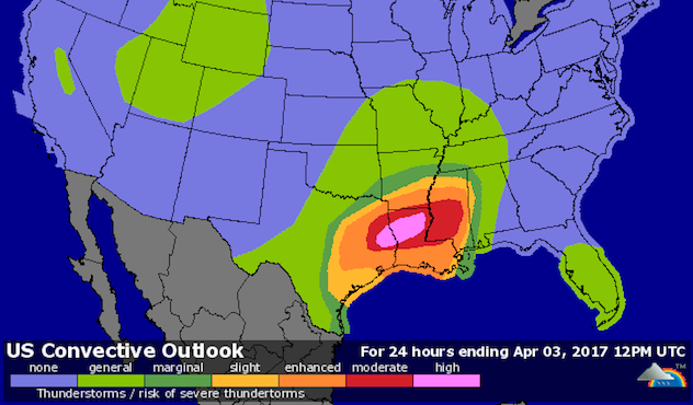 Significant Tornado Threat in TX/LA on Sunday by Bob Henson ...