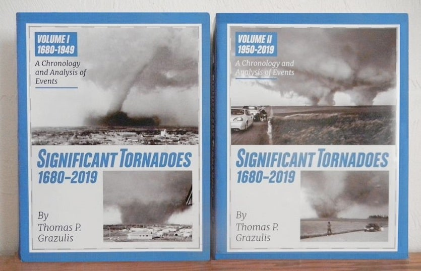 "Mockup of cover for forthcoming update to ""Significant Tornadoes"""