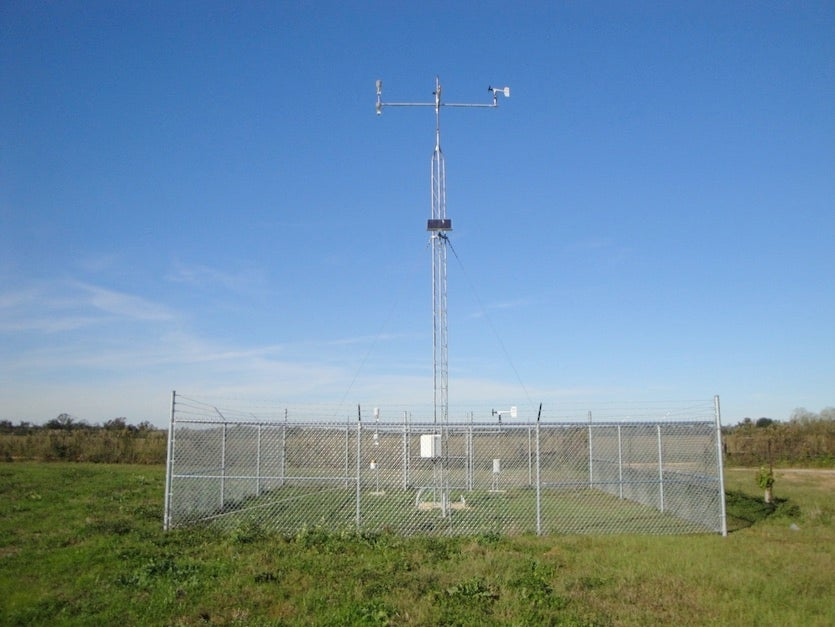 Weather station from the South Alabama Mesonet