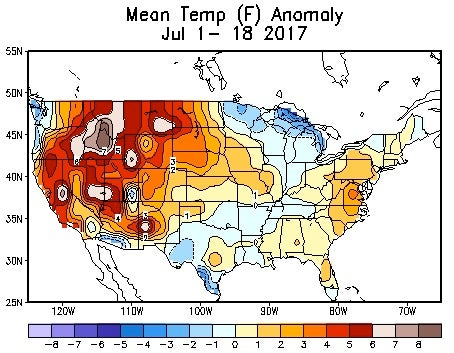 States Of Emergency In California And British Columbia From Raging - Temperature of us right now map