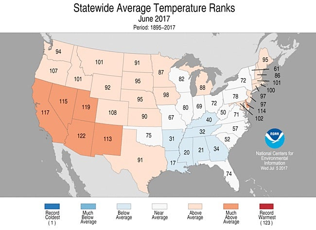 Monthly Average Temperatures Weathercom Climate Prediction Center - Us temperature map by month