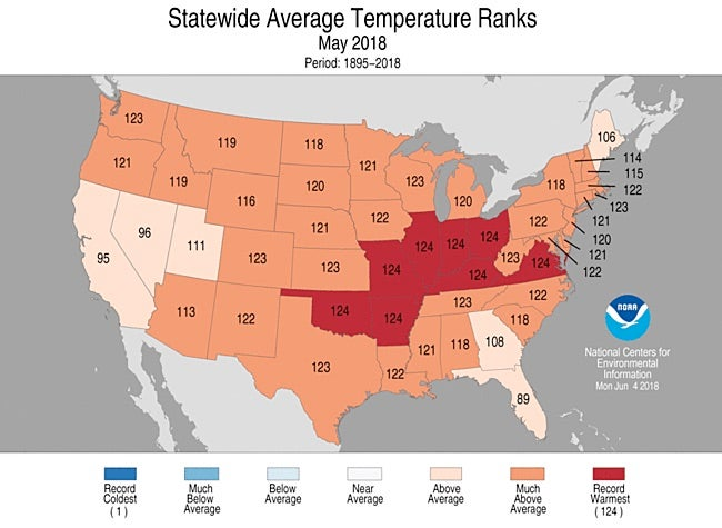 Nation\'s Hottest May on Record Leaves Dust Bowl in the Dust by Bob ...