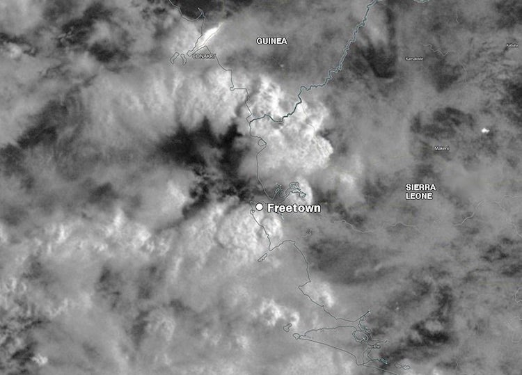 VIIRS image, Sierra Leone storms, 0200Z 8/14/2017