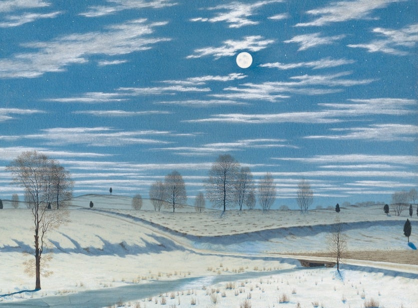 """Winter Scene in Moonlight,"" by Henry Farrer."