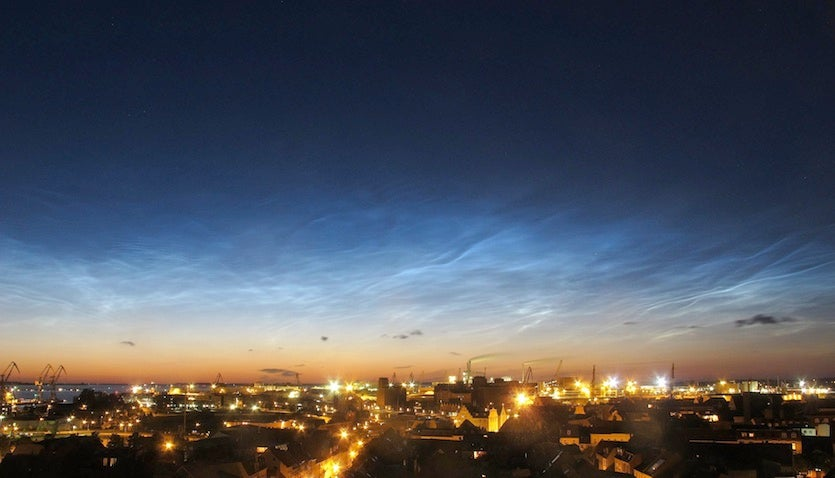 Noctilucent clouds over Wismar, Germany
