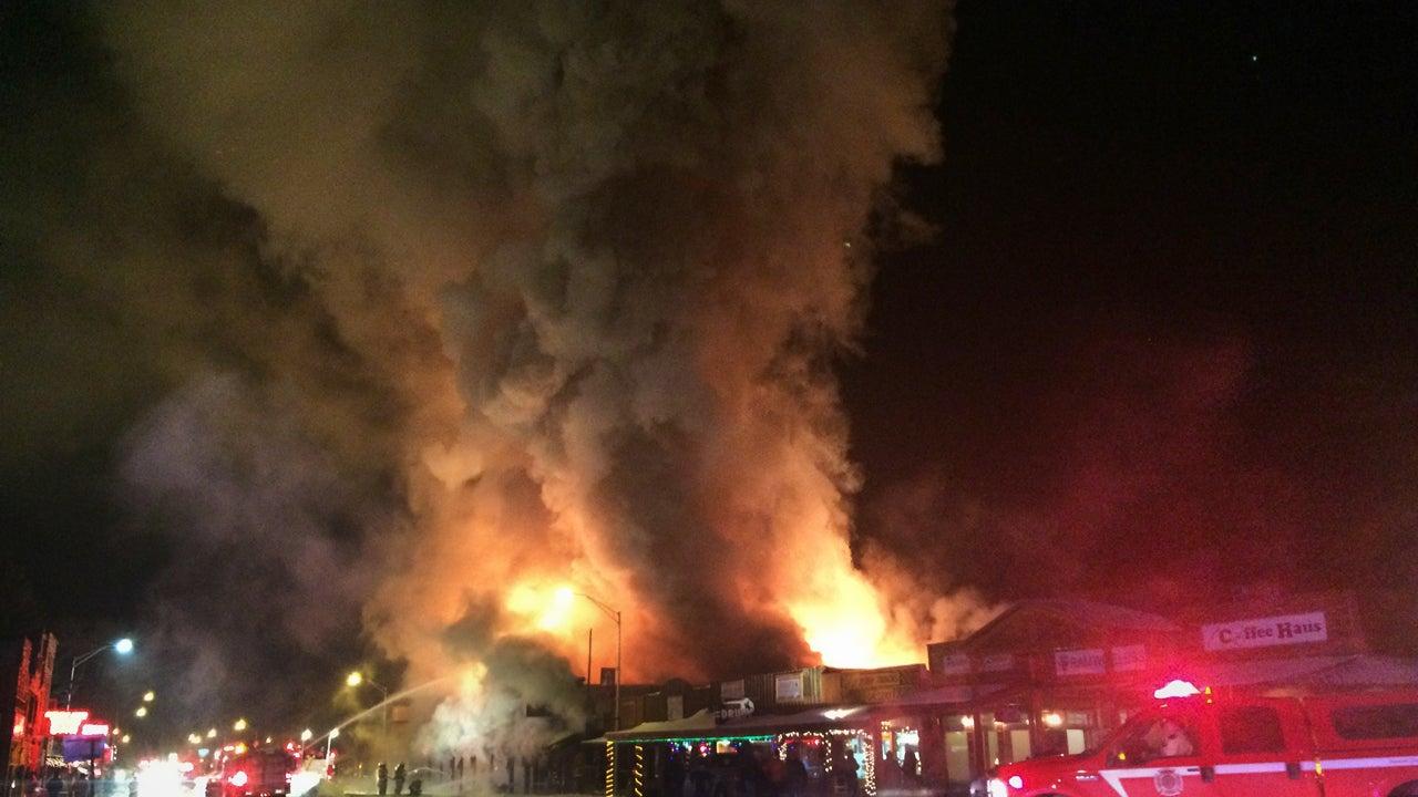 fire tears through historic wyoming town on subzero