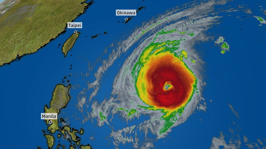 Super Typhoon Yutu Remains a Powerful Storm as it Tracks Toward Southeast Asia
