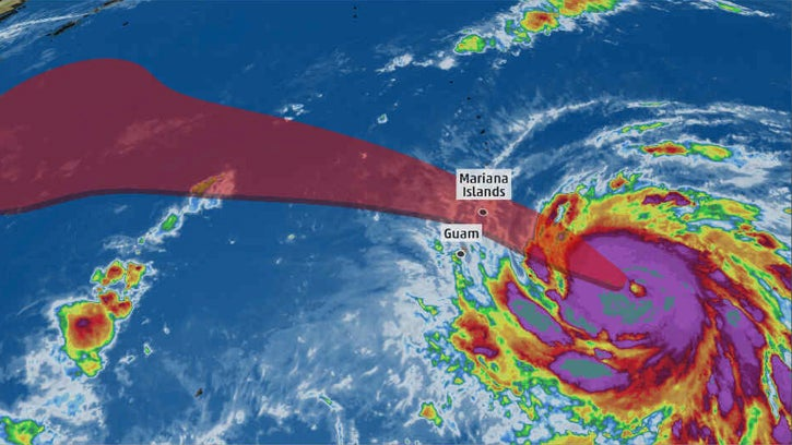 Typhoon Yutu Forecast to Strike Saipan and Tinian in the Mariana Islands at Category 4 or 5 Intensity; Tropical Storm Warning for Guam